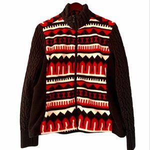 LRL Ralph Lauren Southwest Print Fleece Jacket